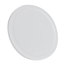White LLDPE Short Round Flat Lid