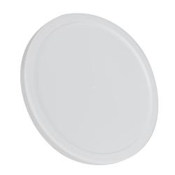 White LLDPE Short Round Flat Lid