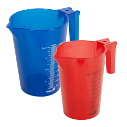 1000mL Green Polypropylene Graduated Stackable Pitcher