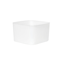 2 Quart HDPE Space-Saver Storage Container (Lid Sold Separately)