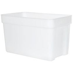 12 Quart HDPE Space-Saver Storage Container (Lid Sold Separately)