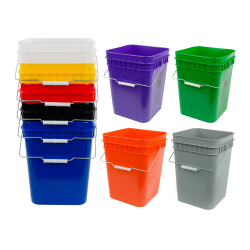 Square Plastic Buckets