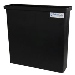 "3 Gallon Black Polyethylene Tank - 18"" L x 2"" W x 18"" H"