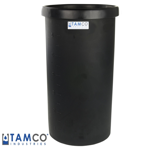 "55 Gallon Black Polyethylene Tank - 22"" Dia. x 35"" High"
