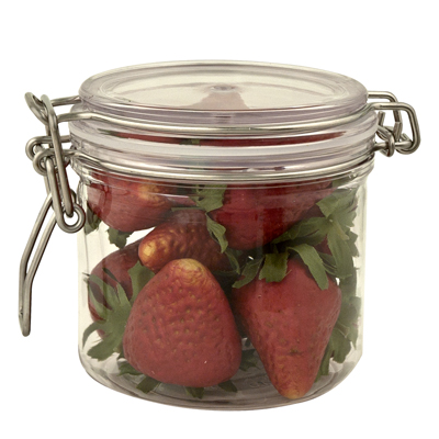 Round PET Jar with Bail Lid