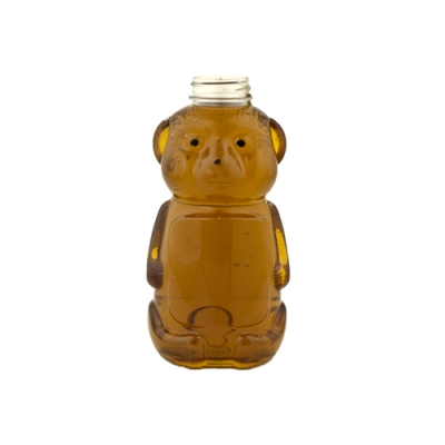 16 oz. PET Honey Bear Bottle with a 38/400 Neck (Cap Sold Separately)