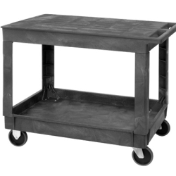 Quantum® Plastic Utility Carts with Flat Top