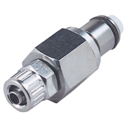 "1/4"" In-Line Ferruleless LC Series Chrome Plated Brass Insert - Shutoff"
