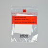 "1.75mil 8"" x 10"" Lab-Loc® Specimen Bags with Removable Biohazard Symbol- contain Absorbent Pad- Clear"