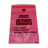 "1.75mil 6"" x 9"" Lab-Loc® Specimen Bags with Removable Biohazard Symbol- Red ""Stat"""