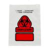 """7"""" x 9"""" LDPE Zip Top Slider Biohazard Bags"""