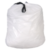 12 Gallon 0.7 mil White Drawstring Liner