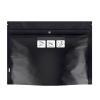 """8"""" W x 6"""" L + 2.63"""" Black Exit Child Resistant Bags"""