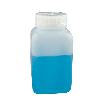 2 oz./60mL Nalgene™ Wide Mouth Polyethylene Square Bottles with 28mm Caps (Sold by Case)