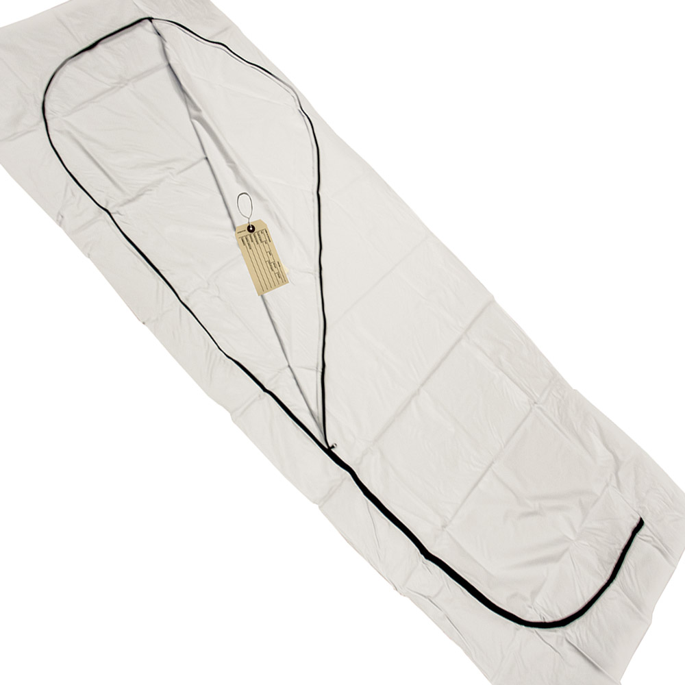 "36"" x 90"" 8 mil Medium Duty Body Bag  with Toe Tags"