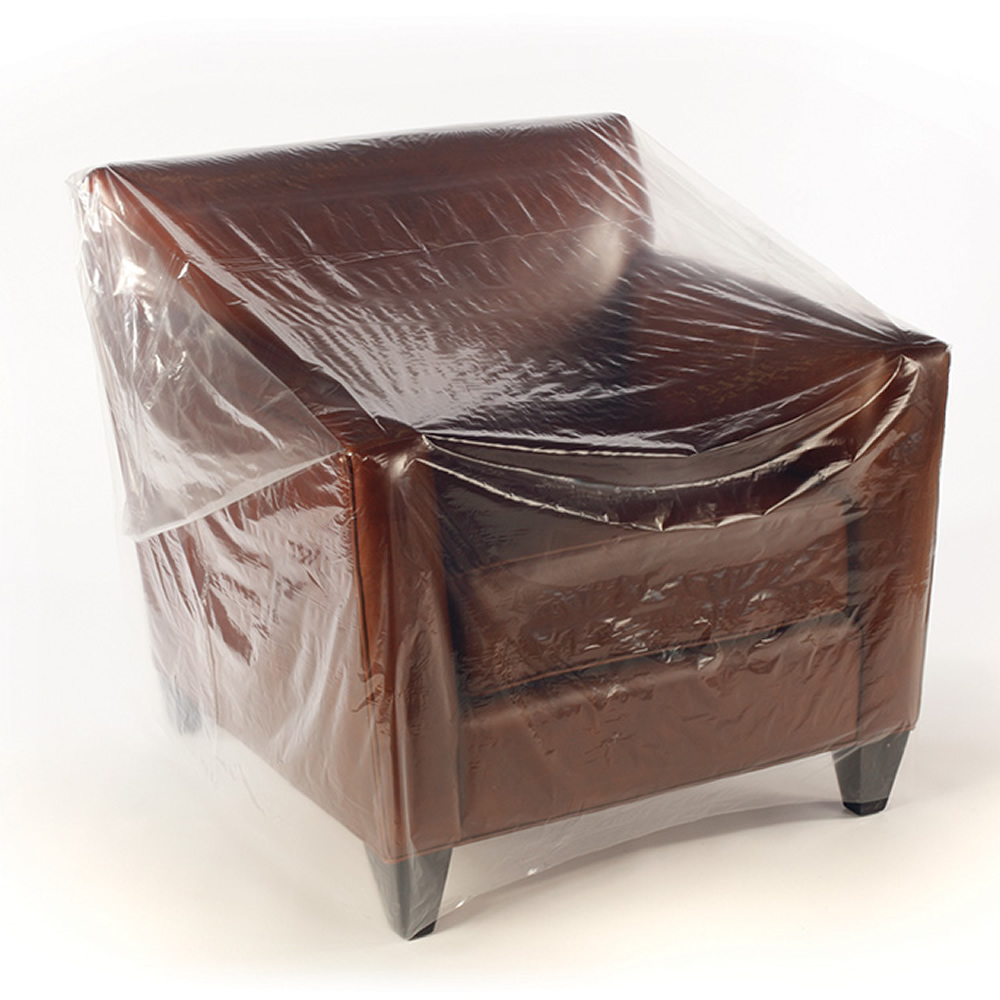"92"" x 45"" x 1 mil Clear Furniture Bags"