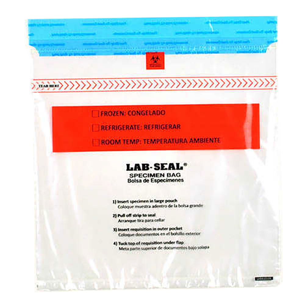 Lab-Loc® Tamper-Evident Specimen Bags with Removable Biohazard Symbol