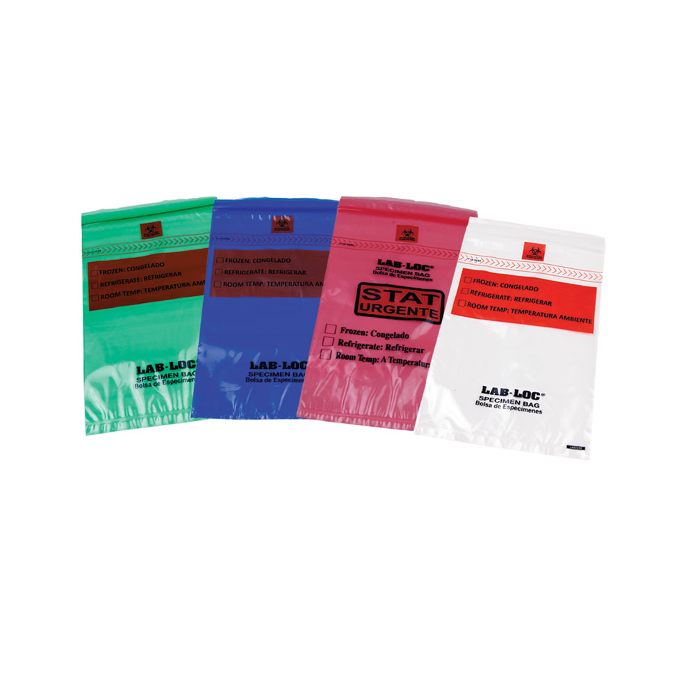 Lab-Loc® Specimen Bags with Removable Biohazard Symbol