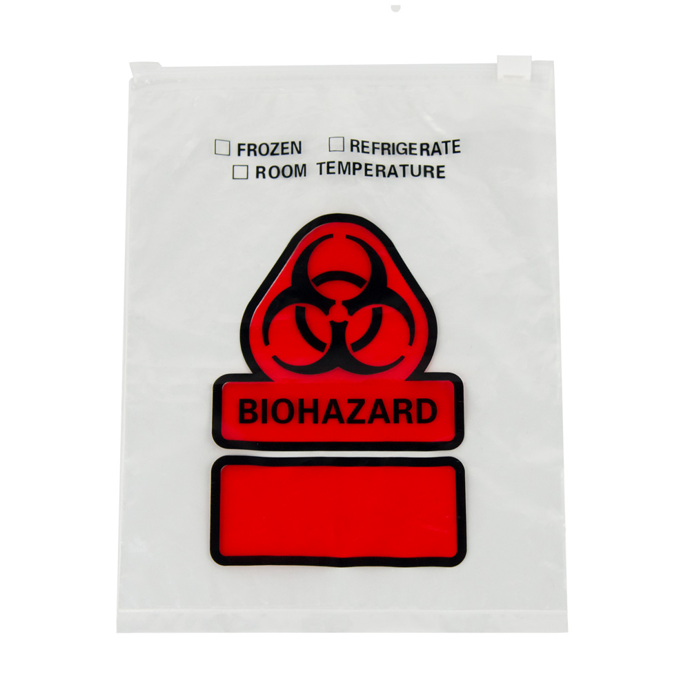 Zip Top Slider Biohazard Bag