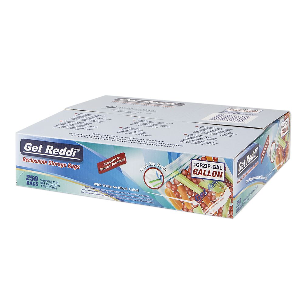 1.75 mil 1 Gallon Get Reddi® Reclosable Food Service Bags