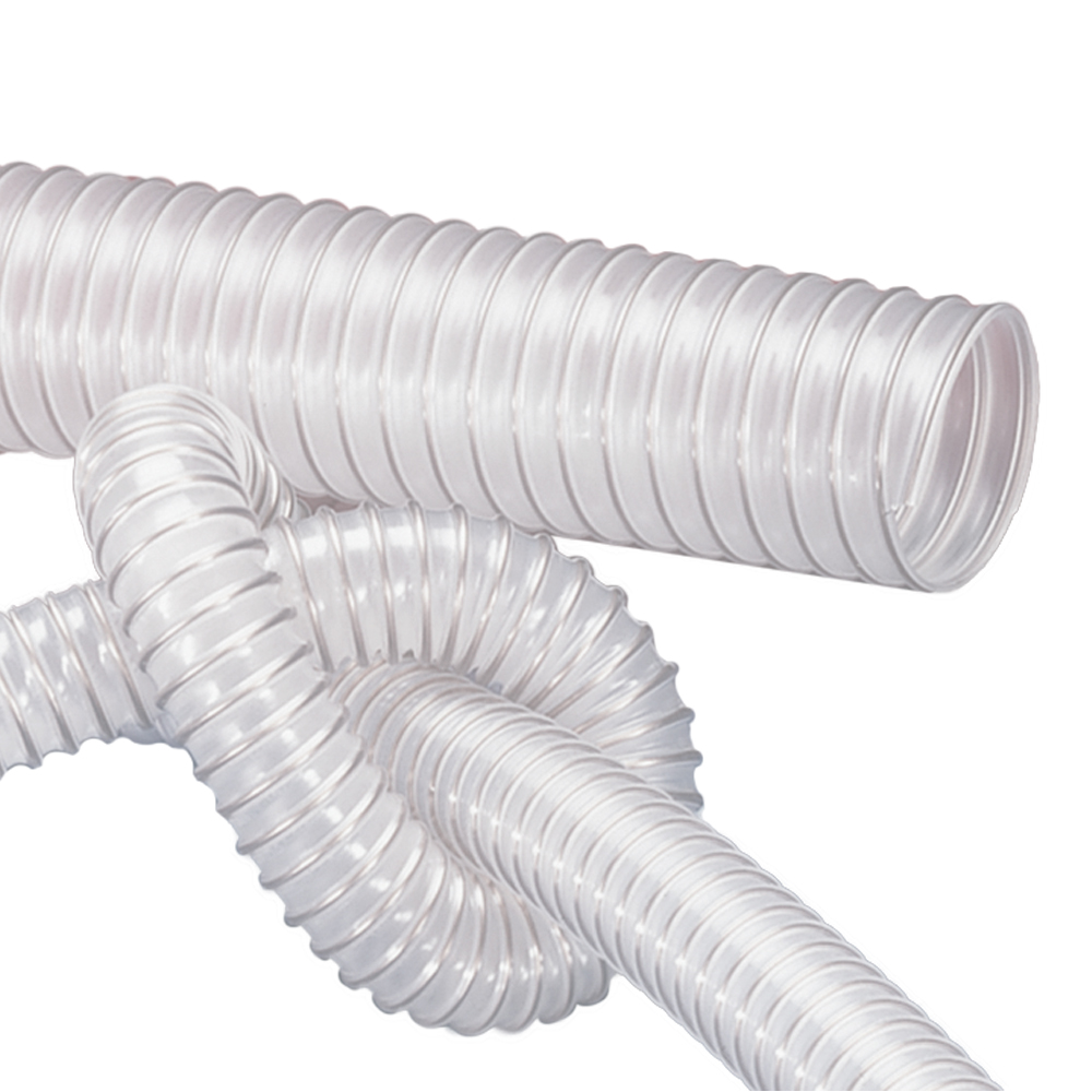 "6"" ID x 6.18"" OD AIRDUC® PUR 350 Food AS Hose"