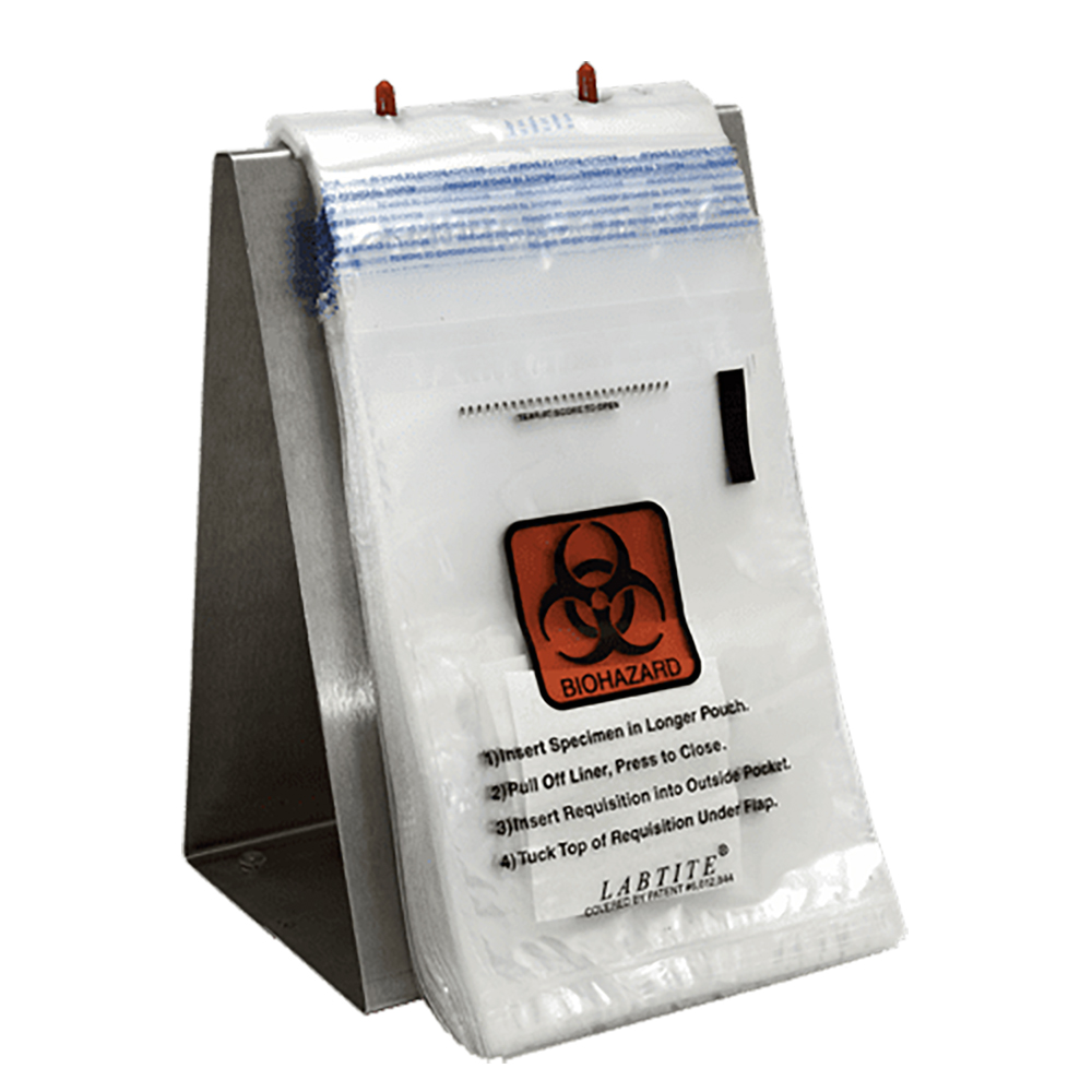 "6"" x 10"" x 2 mil Labtite™ Specimen Bags With Absorbent Pad"