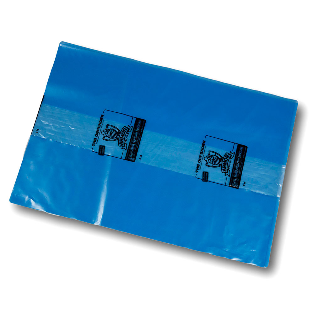 """4 mil 70"""" x 44"""" x 100"""" Blue ARMOR POLY™ Gusseted Bags"""