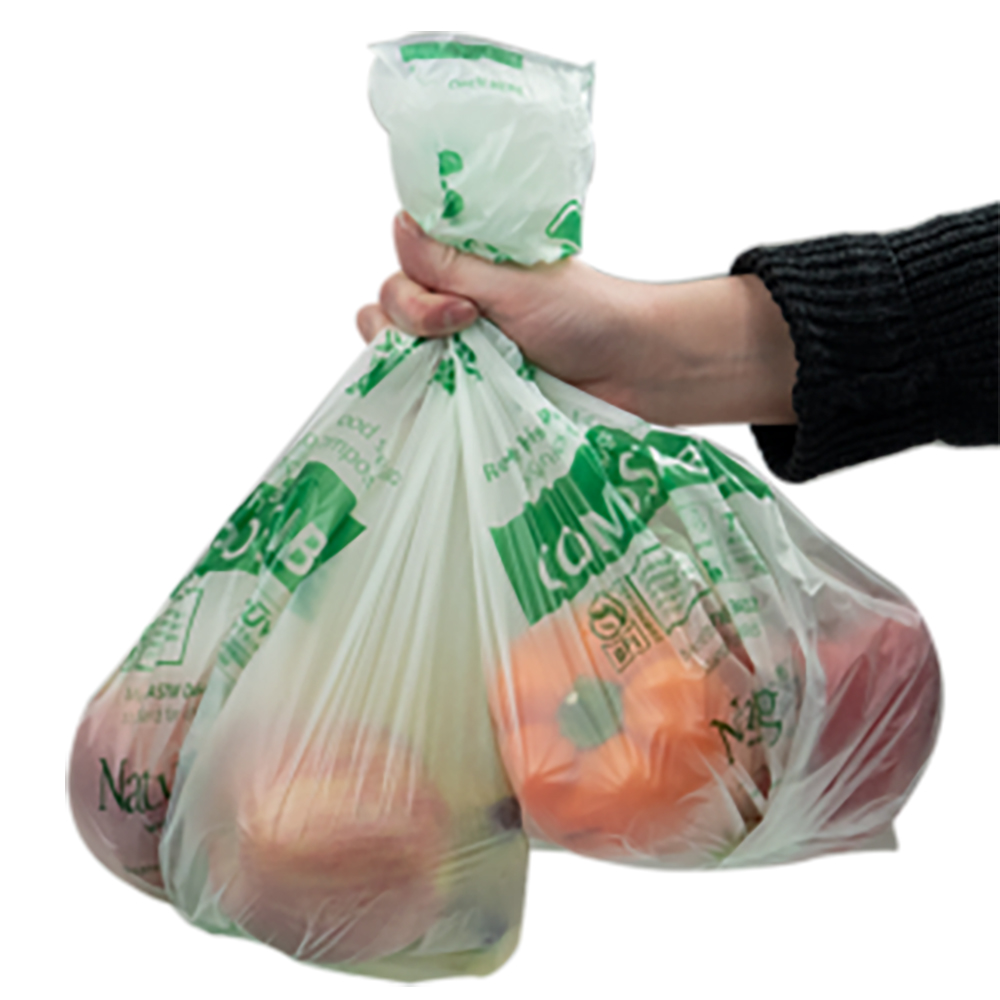"""15"""" x 17"""" 0.6 mil NaturBag™ Compostable Produce Bags - Case of 1200"""