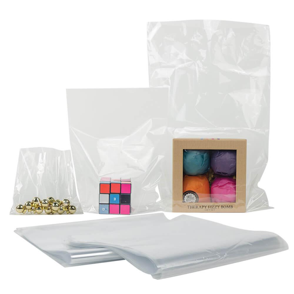 "28"" L x 26"" W 100 Gauge Clear PVC Shrink Bags - Package of 100"