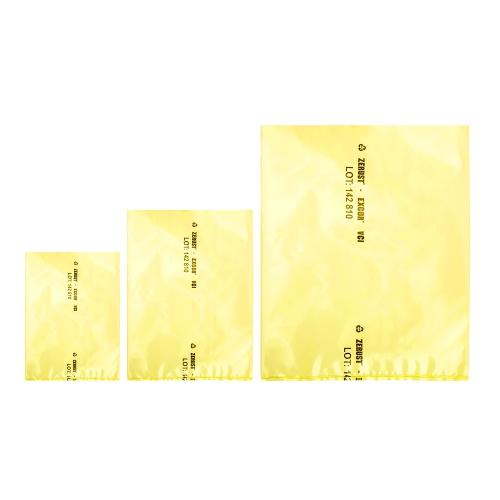 "12"" x 18"" x 4 mil Ferrous Yellow Flat Bags"