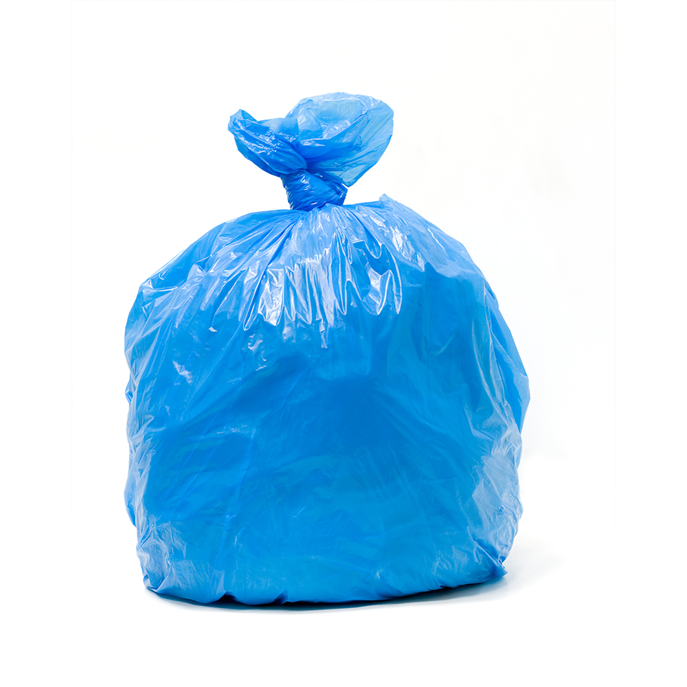 Blue LLDPE Unprinted Recycling Liners