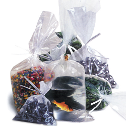 "Tuf-R® Polyethylene Flat Plastic Bags, 8"" x 8"" to 10"" x 30"""