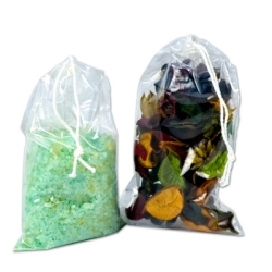 Clear Double Drawstring Plastic Bags