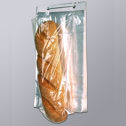 "9"" x 14"" x 1 mil PP Gusset Bread Bags on Wicket Dispenser"