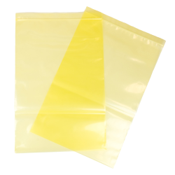 "3"" x 5"" x 4 mil Ferrous Yellow Zipper Bags"