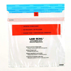 Lab-Loc® Tamper-Evident Specimen Bags with Removable Biohazard Symbol