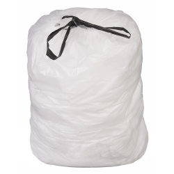 23 Gallon 1 mil Natural Drawstring Liner