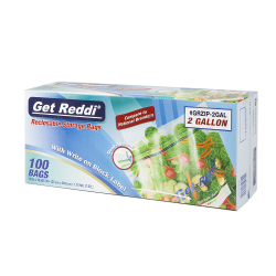 1.75 mil 2 Gallon Get Reddi® Reclosable Food Service Bags