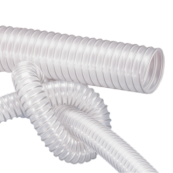 "8"" ID x 8.15"" OD AIRDUC® PUR 350 Food AS Hose"