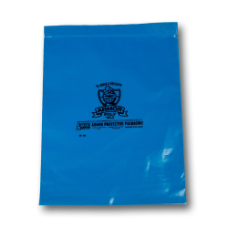 ARMOR POLY® Blue Ziptop Bags
