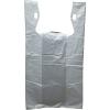 "11.5"" x 6.5"" x 21"" .65 mil White T-Shirt Bags"