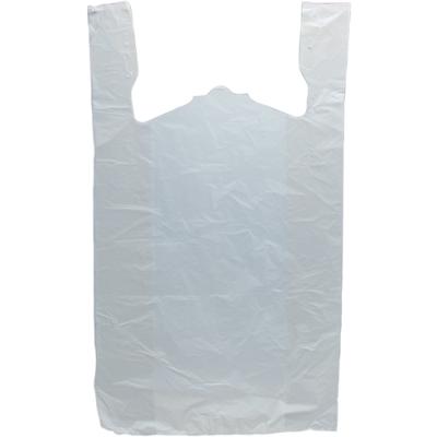 "15"" x 7"" x 26"" .65 mil White T-Shirt Bags"
