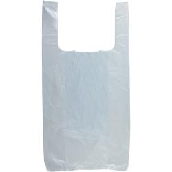 "8"" x 4"" x 16"" .65 mil White T-Shirt Bags"