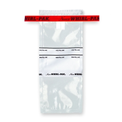 "3"" x 7.25"" x 2.25 mil 4 oz. Whirl-Pak Sampling Bags with Red Tapes & Write-On Blocks"