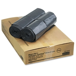 "22 Gallon Gray Polyliner® Bags - 38.75"" L x 24.5"" W"