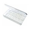 "K-Series™ Styrene 12 Compartment Box - 11"" L x 6-3/4"" W x 1-3/4"" Hgt."