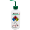 32 oz./1000mL Methanol Nalgene™ Right-To-Know Safety Wash Bottle with Green Dispensing Nozzle