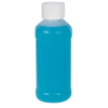 4 oz. Natural HDPE Modern Round Bottle with 24/410 CRC Cap