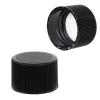 24/410 Black Polypropylene Ribbed Cap with F217 Liner