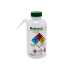 16 oz./500mL Methanol Nalgene™ Vented Unitary™ Right-To-Know Wash Bottle with Green 38mm Cap